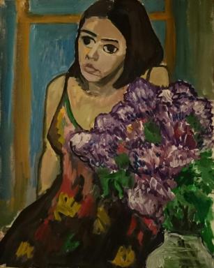 Untitled 2015. Acrylic, 60 x 80 cm